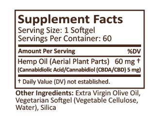 PlusCBD Oil™ Softgels - Raw