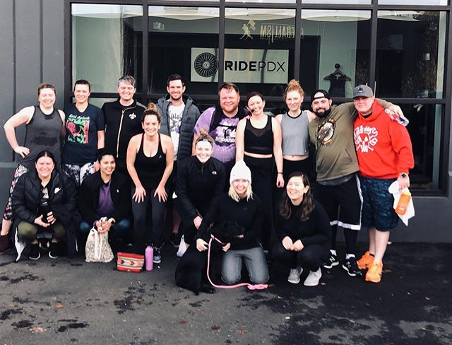 1st RIDE in the books for @jsandstorm 💪🏻💪🏻💪🏻 She'll be permanently on the schedule this week ya'll so if you missed today's 💦💦💦 sesh check our schedule and come see her this week.  P.S.  the #rideordie crew got a new 🐶💕💕💕 #sundayfunday #ridethenbrunch #ridepdxslabtown #puppylove #indoorcycling #rideordie