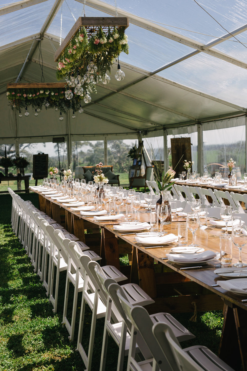clear roof marquee hire, warrnambool grand events hire and styling