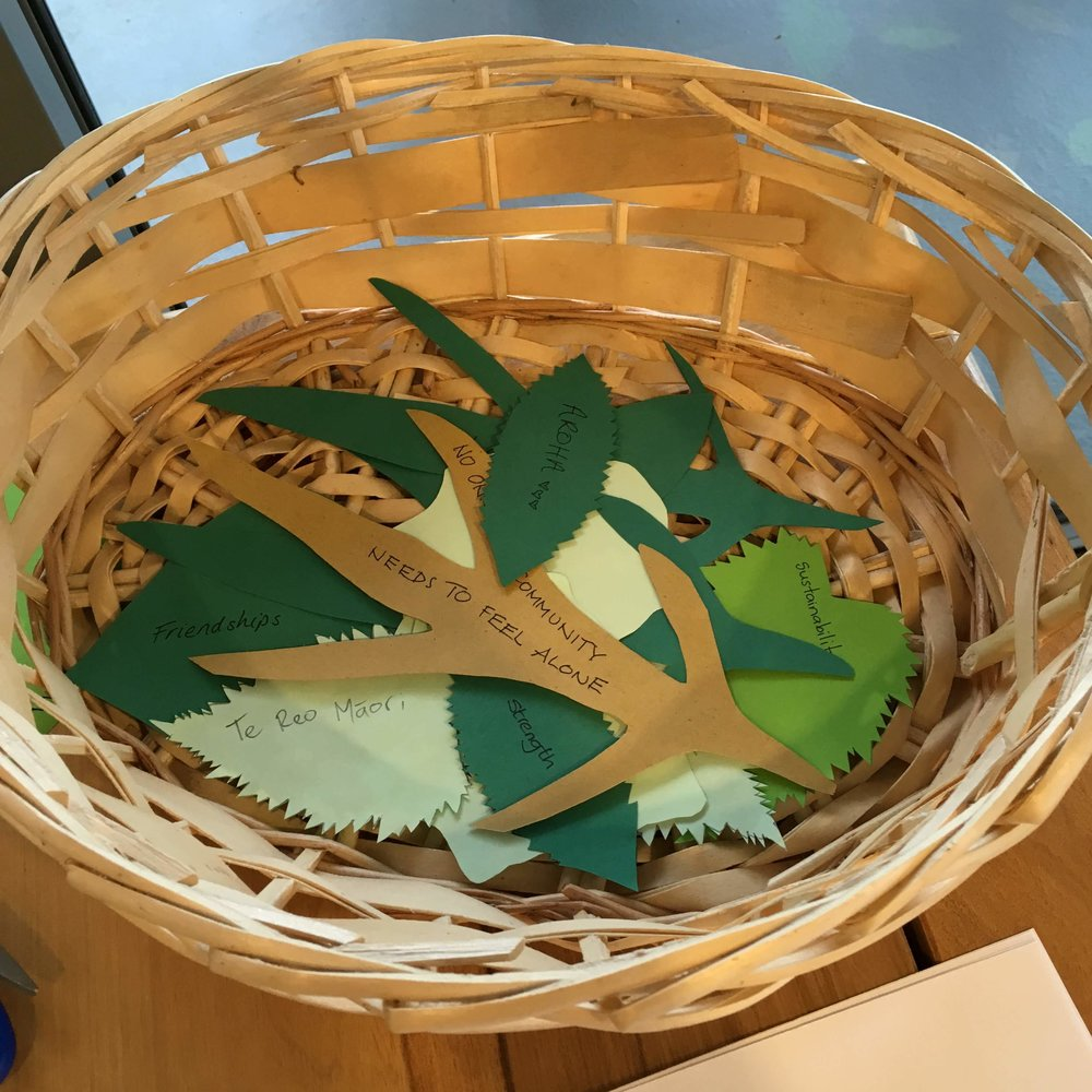 The messages were deposited in a basket on display at the installation site.