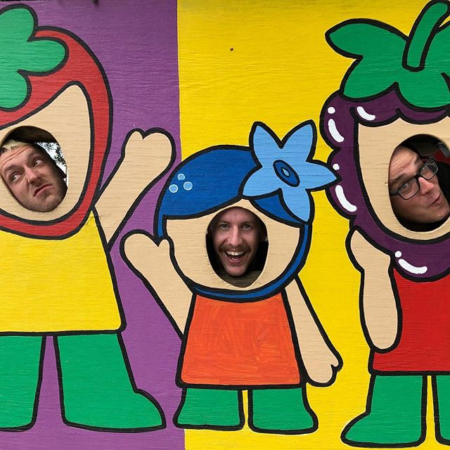 These three goof fruits and another goin bananas off camera are in Sacramento tonight at @holydiversac with Lawrence Arms, @redcityradio and @sincereengineer  Seeya there!