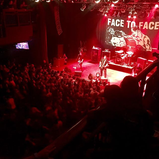 @facetofacemusic at @depotslc tonight. Never know if we'll get to do this again - Thanks to everyone who's made this tour, like every tour, a privilege. One more show tomorrow in Grand Junction, CO! See you all there one more time!