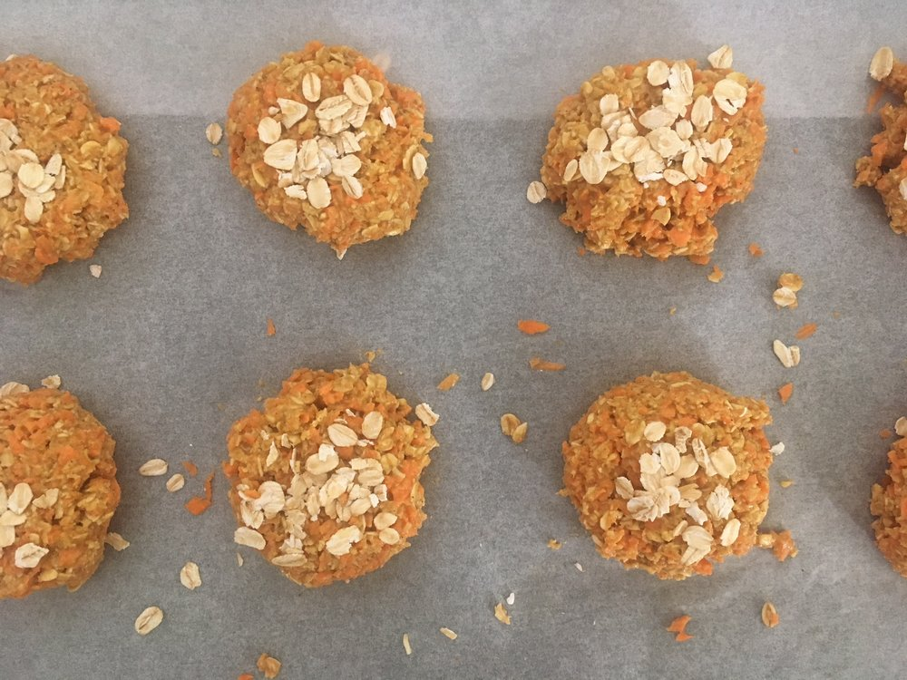 healthy chewy carrot biscuits