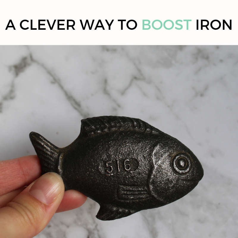 Use this  iron fish  in cooking including to make iron infused water. Genius!