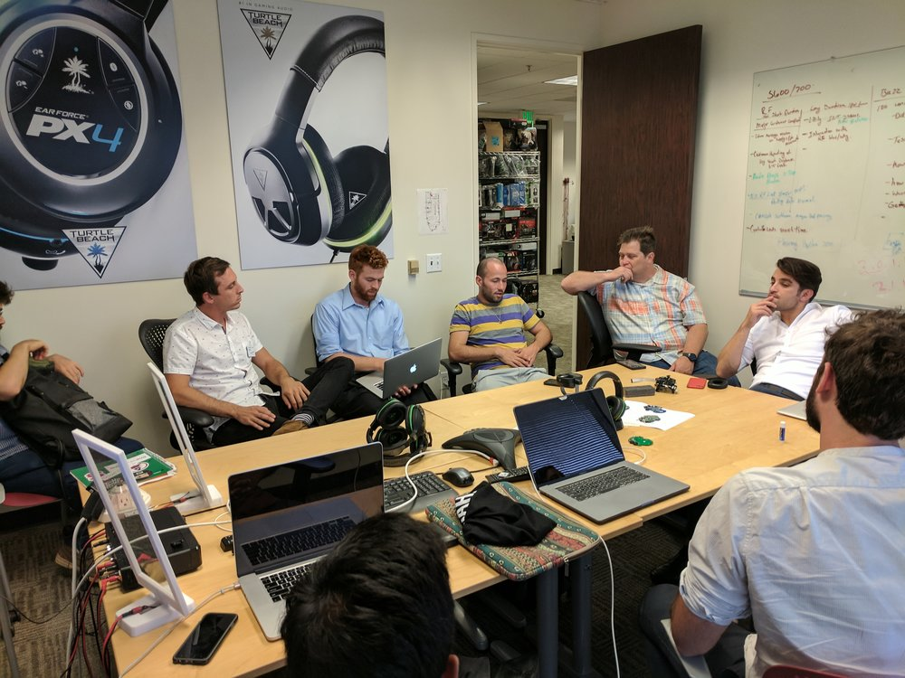 Discovering headset prototypes and discussing trends in consumer audio with Richard Kulavik, CTO of Turtle Beach at the San Jose R&D office.