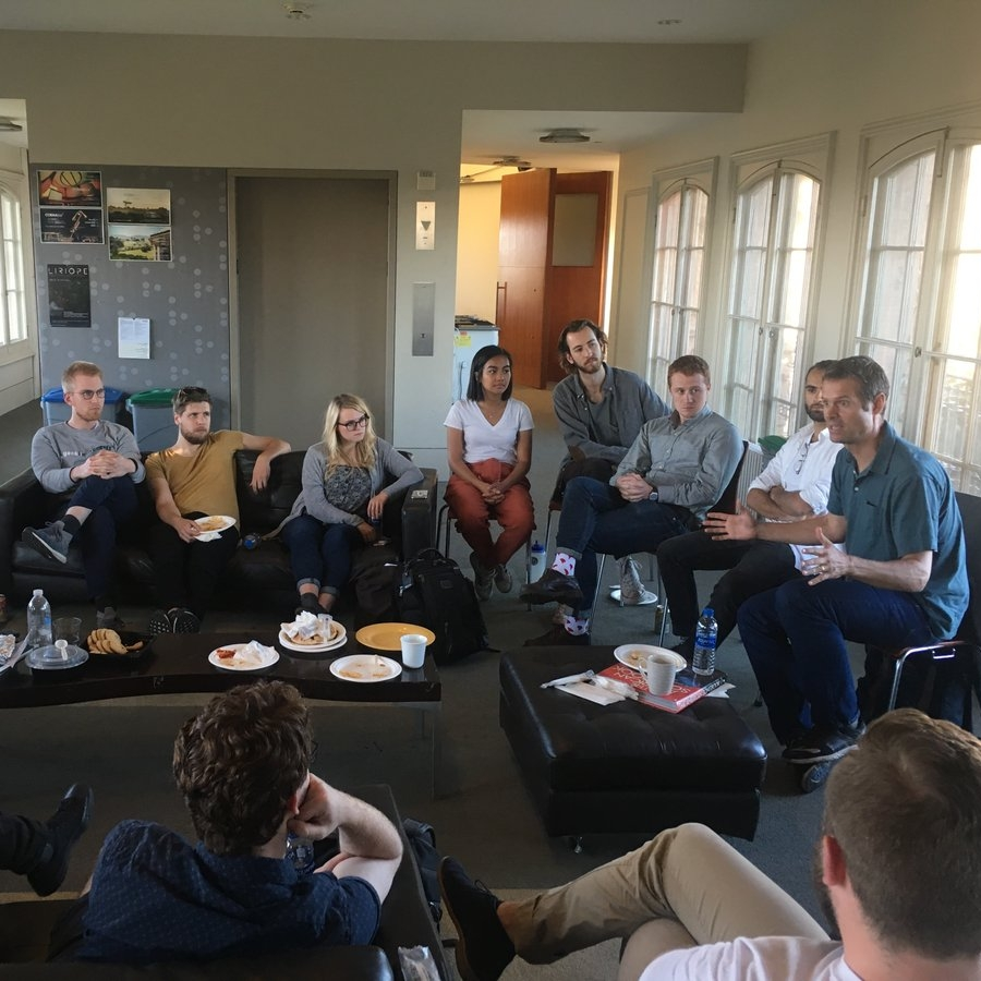Day 9 - CCRMA at Stanford UniversityTour, Workshops, Mentor Meetings, and a Fireside Chat with Tim Westergren, Founder of Pandora