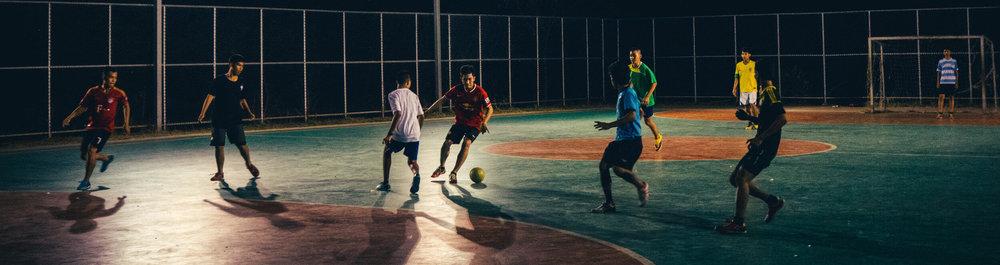 Five-a-side football scene