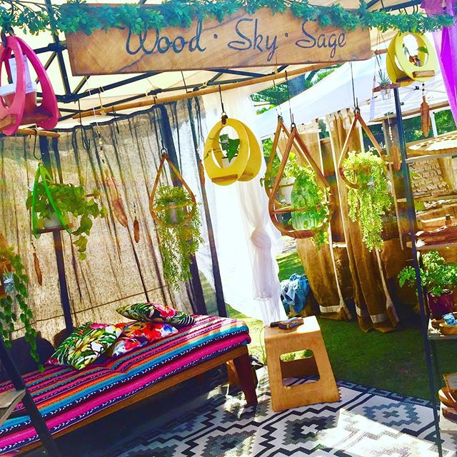 Look for our bright and cosey nook @byron_markets Beachside today 8am to 4pm. One of us will be stretched out  on the daybed by midday 😆💖💜💚 #jungalowstyle #planthangers #teardropplanthanger #eclipsehangers #bohostyle #woodwork #woodcarving #essentialoillove #oilholders #essentialoilholders #lovinglife #marketlife #justchillin #seista #byronbay