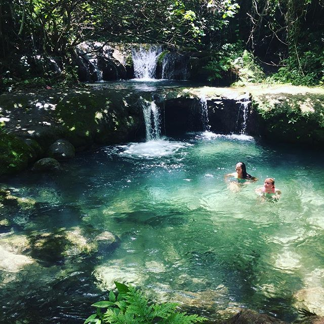 So this is where we have been the last two weeks. Well something like this and also amazing beaches, snorkelling and blue holes in Vanuatu. Also searching out places to hold a retreat sometime in the future 😊 . . . . #vanuatu #melecascades #holidaysnaps #vacay #restoringthecreativejuices #naturalliving #beautifulworld #nofilter #lovinglife #selfcompassionjourney #retreatdiscovery