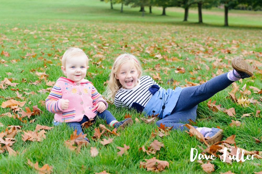 This family loved playing in the autumn leaves!