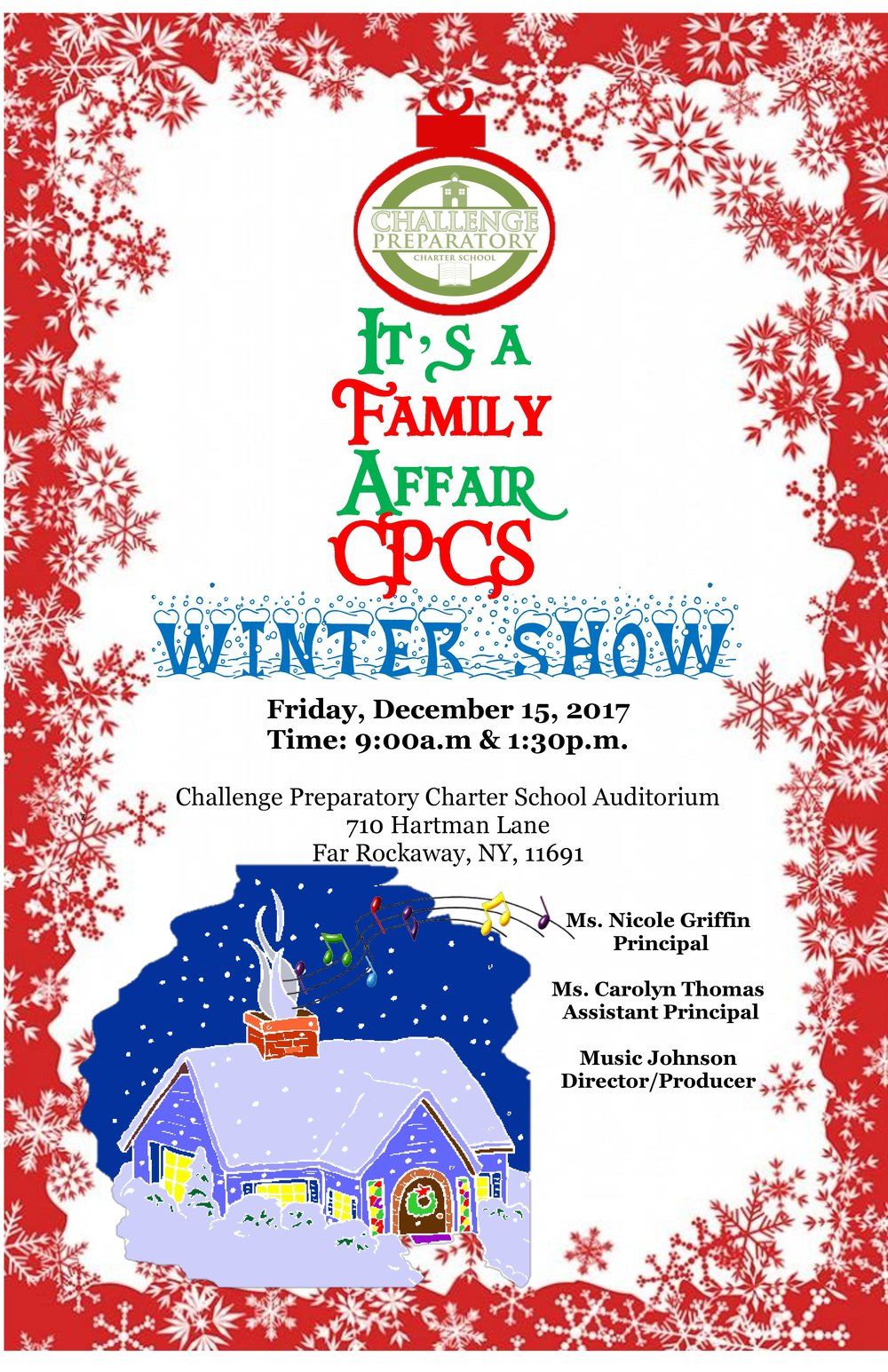 Winter Show Flyer