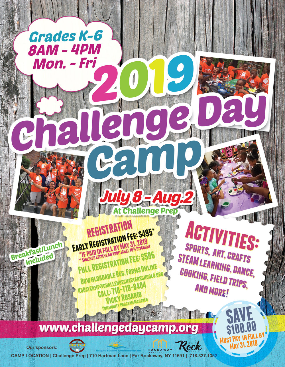 K-5 Summer Day Camp Flyer