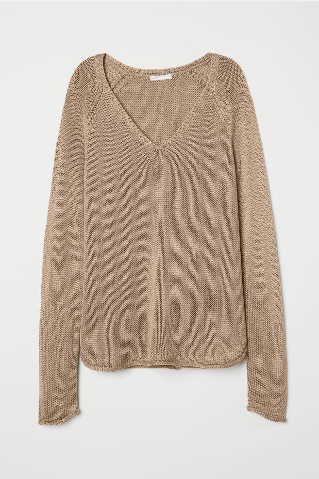 Loose knit jumper   H&M