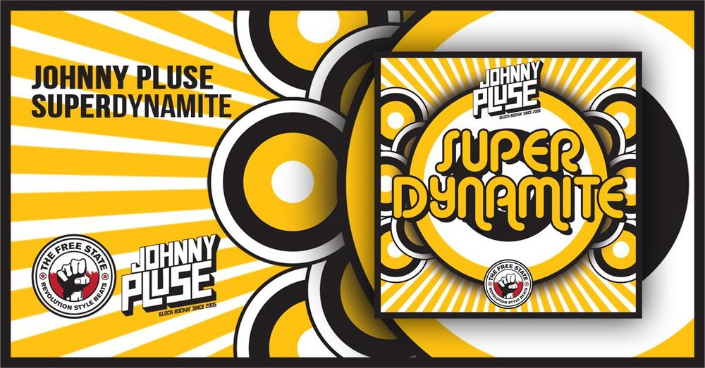 "Johnnypluse Drops his Frist solo single in 3 years.  "" SupaDynamite "" is 110 bpm banger with dancehall infused Drums layered up Jps Trademark big funk drums , its got the usal party rockin hiphop samples and one massive big Squelchy 303 bassLine to cause dancefloor damage . Out 11/11/17 on The Free State"