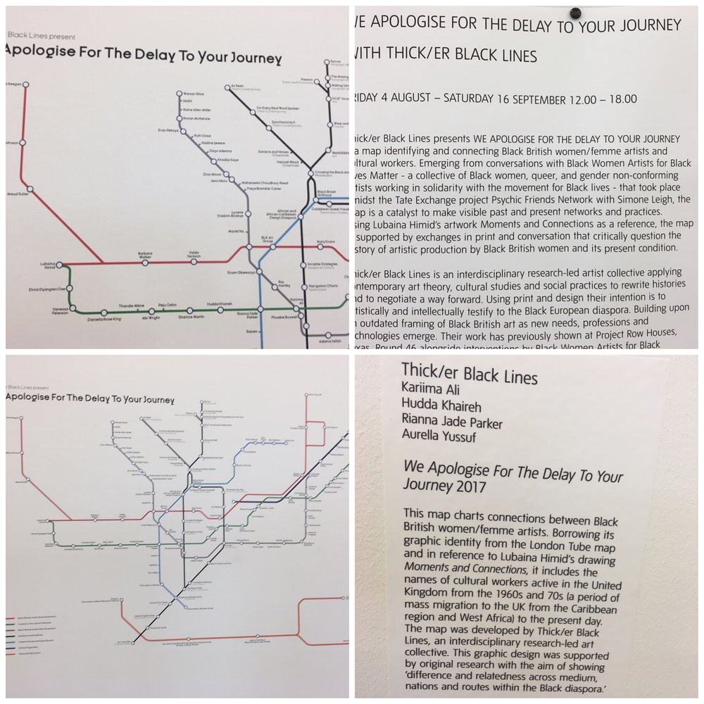 Tate exchange then do better thicker black lines presents we apologise for the delay to your journey a map identifying and connecting black british womenfemme artists and cultural altavistaventures Choice Image