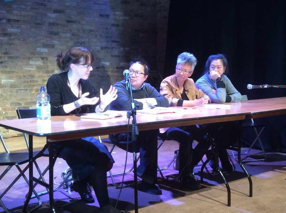 Panel: Retelling old tales in theatre   + extract from  Bound Feet Blues  by Yang-May Ooi performed by Julie Cheung-Inhin, directed by Jessica Higgs. Chair: Dr Amanda Rogers, Associate Professor in Human Geography and Geohumanities, Swansea University. Panel: Lucy Chau Lai-Tuen Sheen, Ben Yeoh, Yang-May Ooi