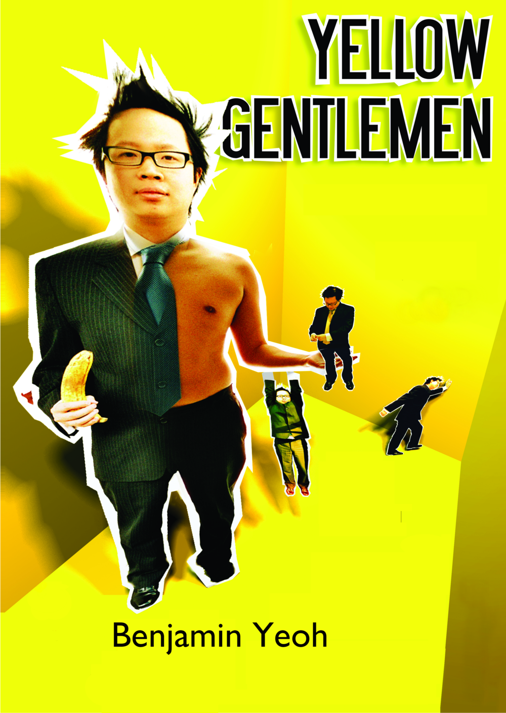 (c) Alex Evans and Benjamin Yeoh.  Art work design used for poster and book cover for 2006 performance of Yellow Gentlemen.