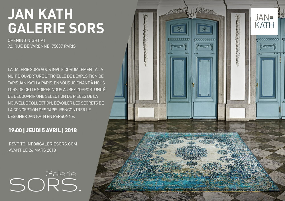Jan Kath at gallery SORS. in Paris invitation le 5 avril 2018 cocktail vernissage ouverture