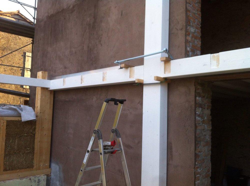 La struttura portante del soppalco in legno