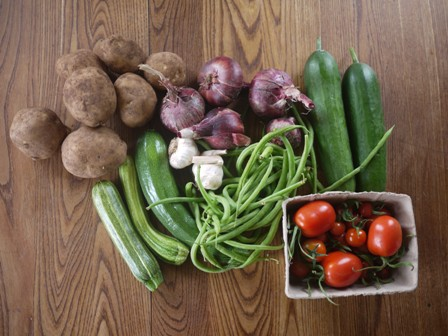 Veg box contents -medium
