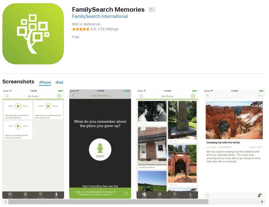 FamilySearch Memories App