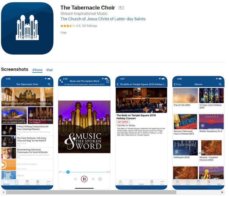 The Tabernacle Choir App