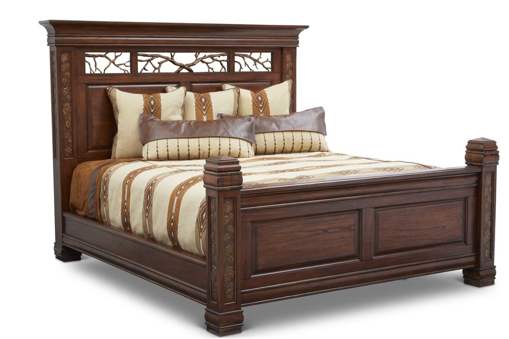"Aspen King Bed   King Headboard King Item # DI-167101HB (G / LB / DB) Dimensions: 88.75 x 8.5 x 69""H  King Footboard Item # DI-167101FB (G / LB / DB) Dimensions: 83.75 x 6.25 x 38.375""H  King Side Rails Item # DI-167101SR (G / LB / DB) Dimensions: 81""L x 2.75""T x 9.5""H  Overall Assembled King Dimensions: 88.625 x 92.3125 x 92.3125""L"
