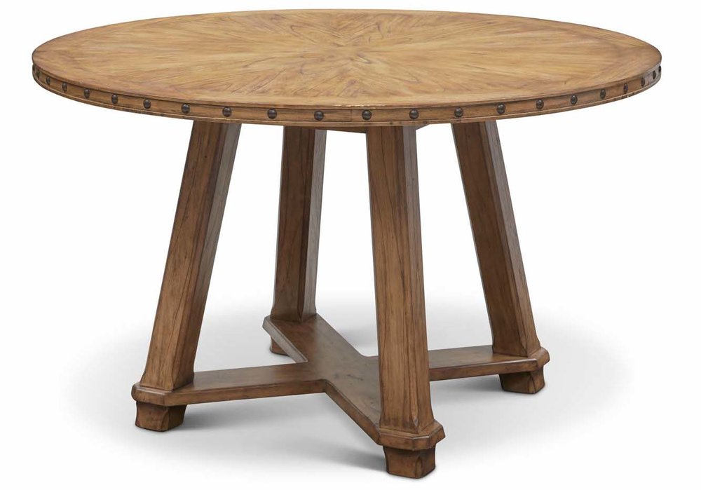 "Aspen Round Counter Table  Item # DI-167211 (G / LB / DB) Dimensions: 60""D x 36""H"