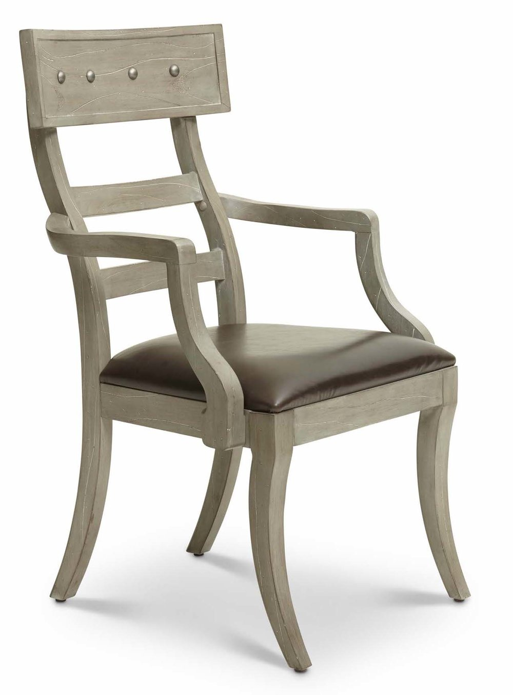 "Aspen Arm Chair  Item # DI-167203 (G / LB / DB) Dimensions: (2/carton) 24.75 x 25 x 41.5""H   Aspen Arm Chair Upholstered Back   (Not Pictured)  Item # DI-167203A Dimensions: 24.75 x 25 x 41.5""H"