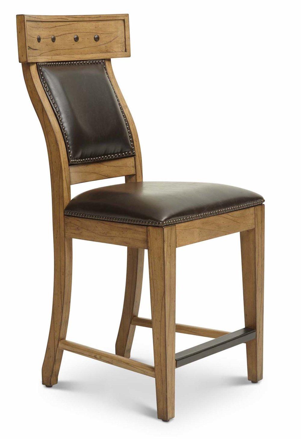 "Aspen Counter Stool Upholstered Back  Item # DI-167212 (G / LB / DB) Dimensions:20 x 23 x 43.75""H"