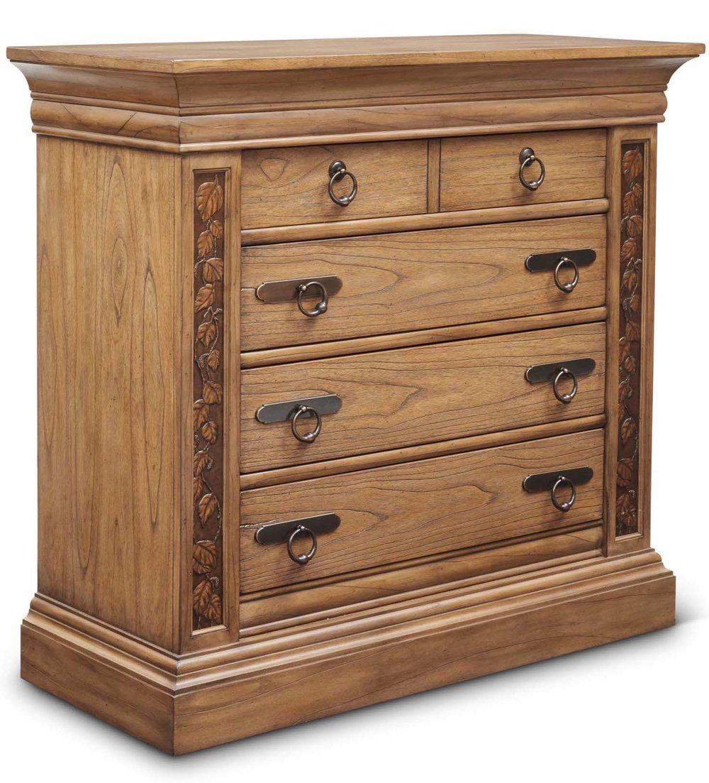 "Aspen Media Chest  Item # DI-167110 (G / LB / DB) Dimensions: 46 x 19.5 x 44""H"