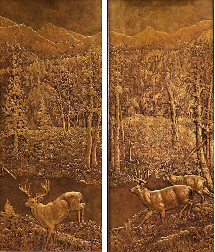 Detail of Aspen Armoire's   Panel