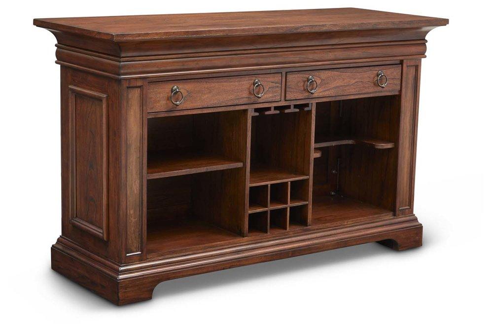 "Aspen Bar Table Back  Item # DI-167207 (G / LB / DB) Dimensions: 68 x 26 x 42""H"