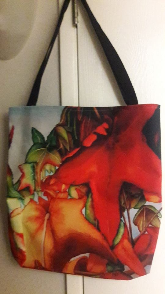 Tote with an Autumn Leaves design from Fine Art America.
