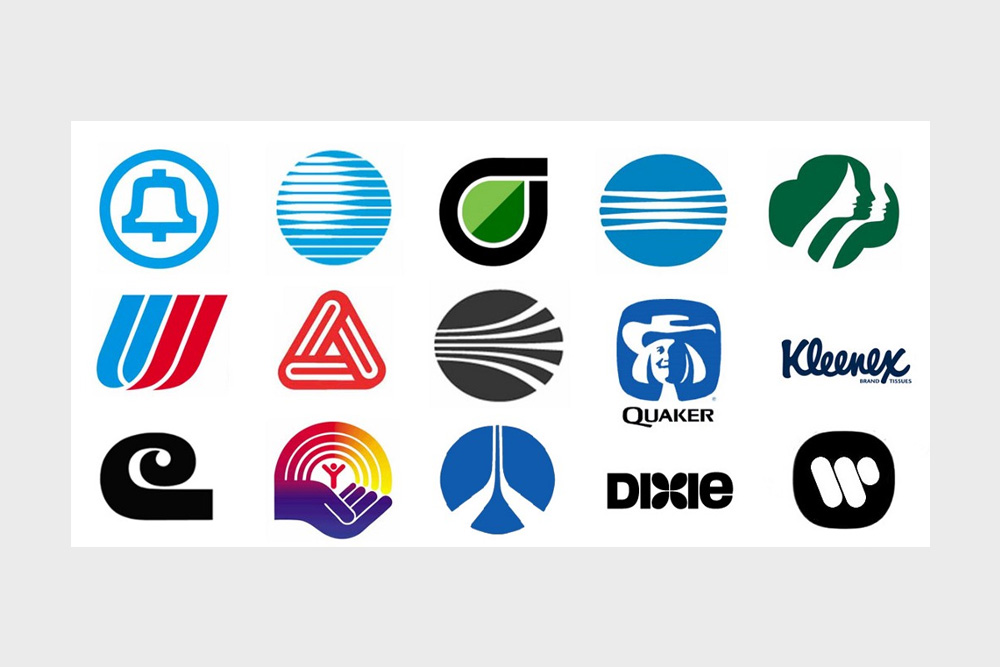 Classic logo designs from Saul Bass.
