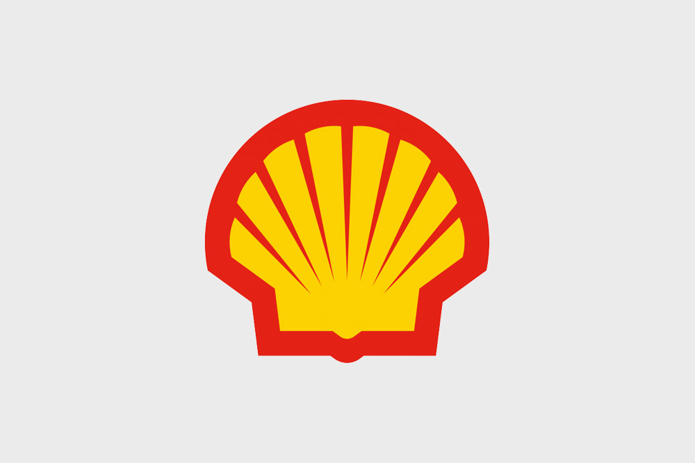 The classic Shell logo is instantly recognisable.