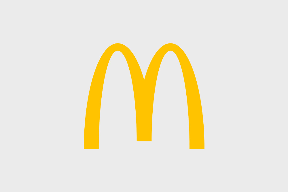 The golden arches of the McDonald's logo are world famous.