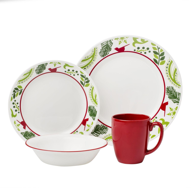 Impressions Birds \u0026 Boughs 16-pc Dinnerware Set  sc 1 st  Designer Dinnerware Sets & Impressions Birds \u0026 Boughs 16-pc Dinnerware Set Review | Corelle ...