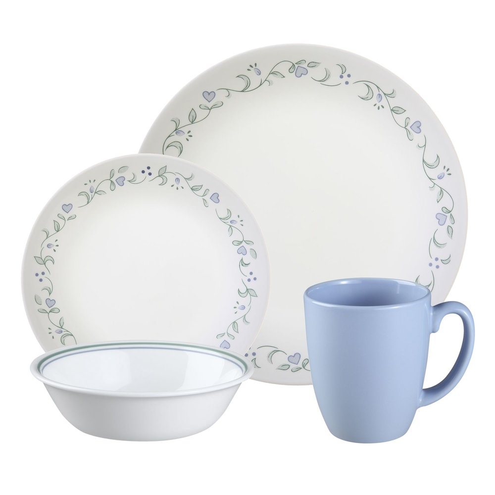 Livingware Country Cottage 16-pc Dinnerware Set Review   Corelle ...
