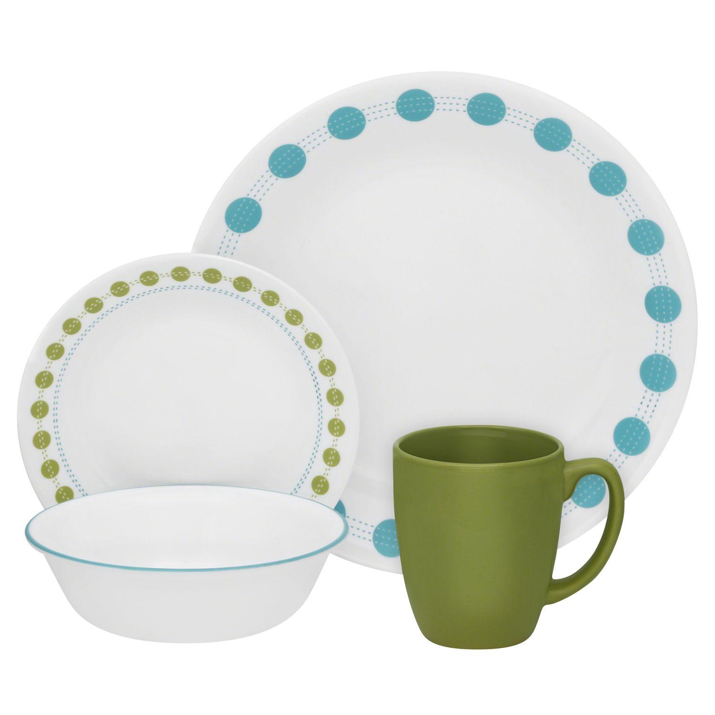 sc 1 st  Designer Dinnerware Sets & Livingware South Beach 16-pc Dinnerware Set Review | Corelle Dinnerware