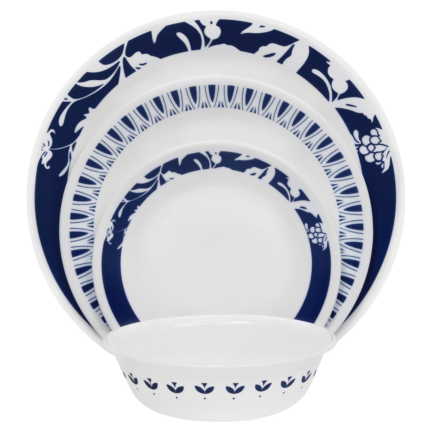 Boutique Uptowne Blue Mavi 16-pc Dinnerware Set  sc 1 st  Designer Dinnerware Sets & Boutique Uptowne Blue Mavi 16-pc Dinnerware Set Review | Corelle ...