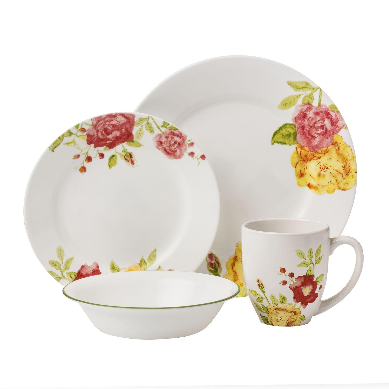 Boutique Emma Jane 16-pc Dinnerware Set Review   Corelle Dinnerware