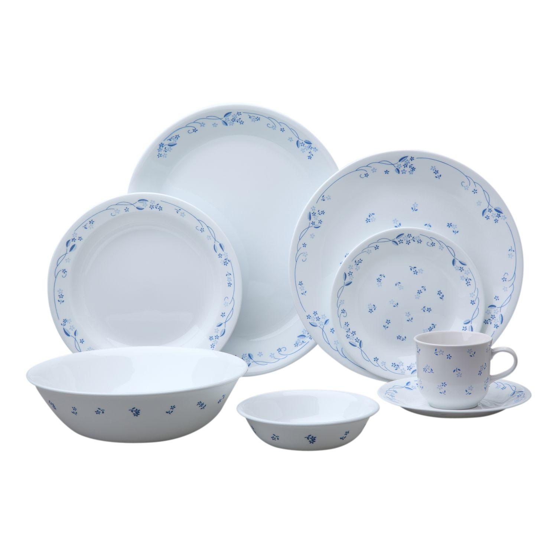 Livingware Provincial Blue 76-pc Dinnerware Set  sc 1 st  Designer Dinnerware & Livingware Provincial Blue 76-pc Dinnerware Set Review | Corelle ...