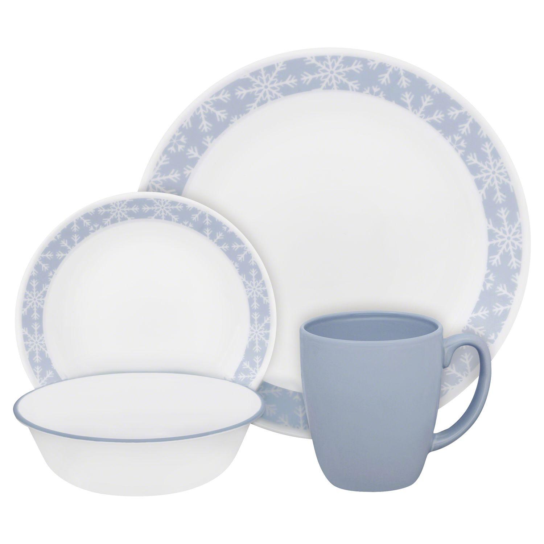 Livingware Crystal Frost 16-pc Dinnerware Set Review | Corelle Dinnerware  sc 1 st  Designer Dinnerware Sets & Livingware Crystal Frost 16-pc Dinnerware Set Review | Corelle ...