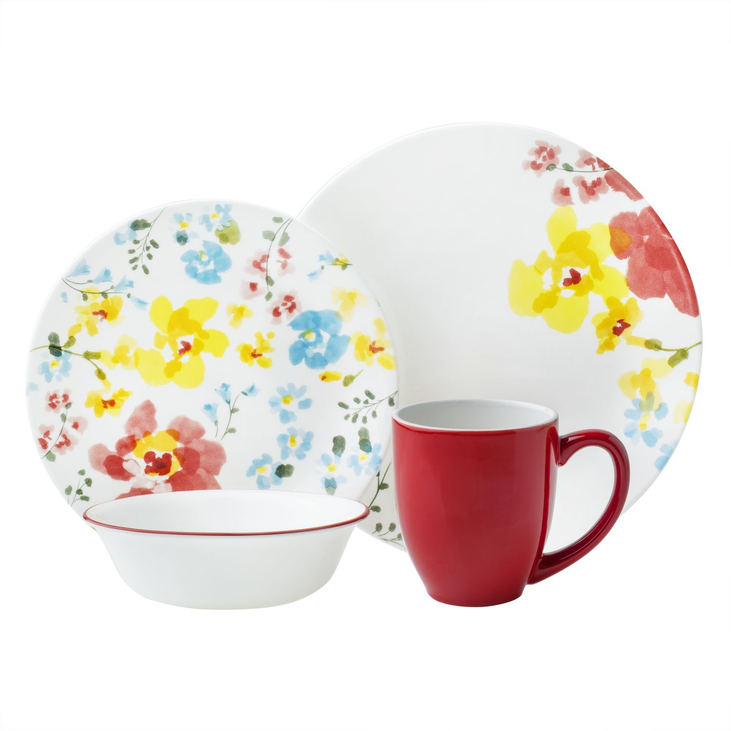 Marvellous Corelle Berries And Leaves 16 Pc Dinnerware Set Gallery ...