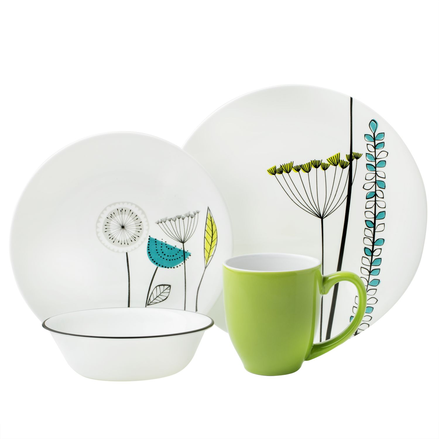 Vive Abstract Meadow 16-pc Dinnerware Set  sc 1 st  Designer Dinnerware & Vive Abstract Meadow 16-pc Dinnerware Set Review | Corelle Dinnerware