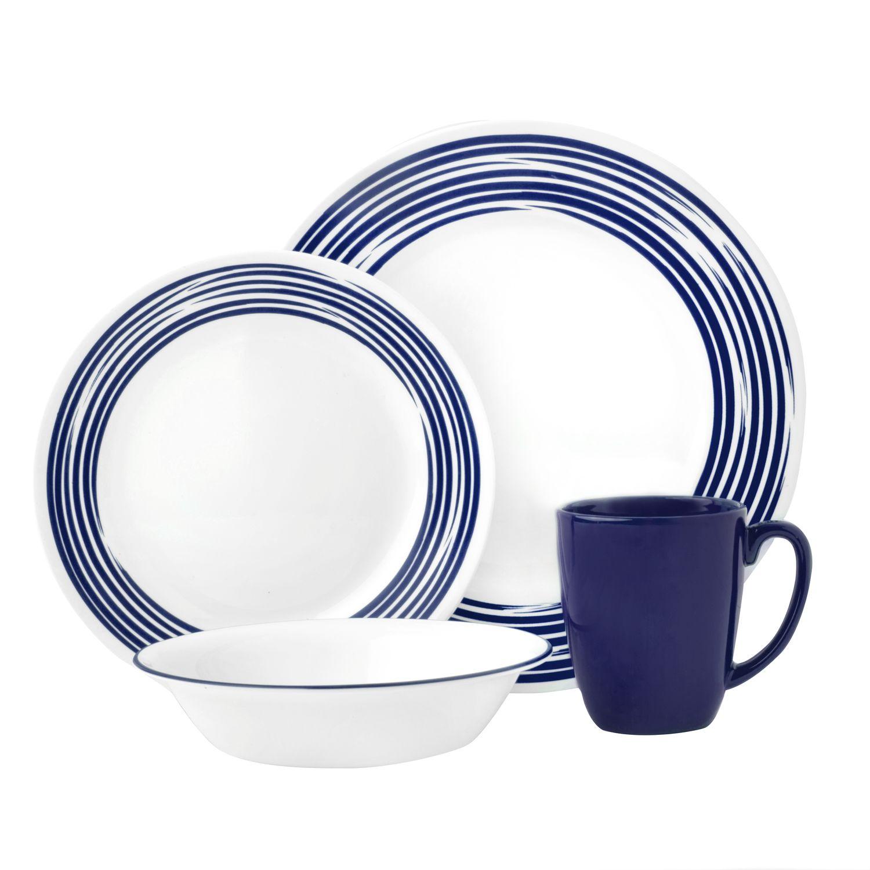 Boutique Brushed 16-pc Dinnerware Set Cobalt Blue  sc 1 st  Designer Dinnerware Sets & Boutique Brushed 16-pc Dinnerware Set Cobalt Blue Review   Corelle ...