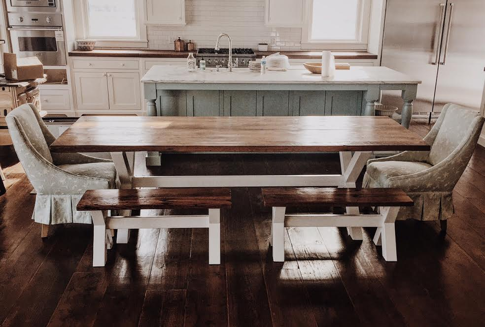 wooden dinner table