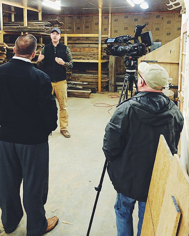 We probably won't be bringing home an Emmy for this performance, but we still had fun talking with #kolr10 today about what we're doing at Revival Iron & Wood! Stay tuned for the feature which will air later on this month! . . . . . . #springfieldmo #springfieldmissouri #ozarks #smallbusiness #woodworking #finishcarpentry #localbusiness #keepitlocal #woodworker #417 #417land #grizzlymakers #maker