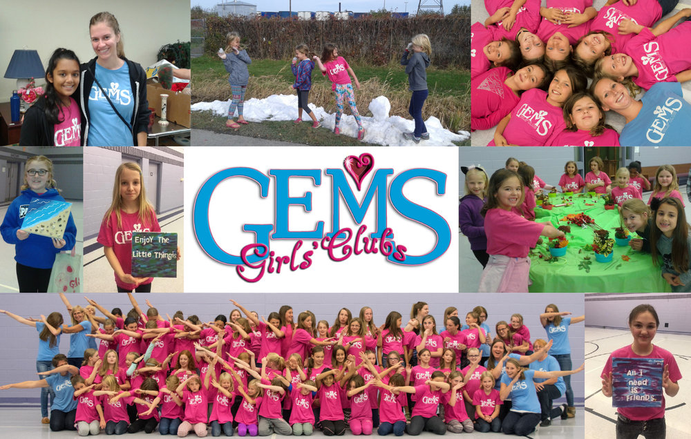 Gems Girls Club - Girls Grade 3-8 gather every Wednesday night from 7-8:30pm learning and creating projects and playing games.More